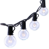 Wholesale Outdoor Decorative String Led Lights - G40 Bulb Globe String Lights with Clear Bulb Backyard Patio Lights Vintage Bulbs Decorative Outdoor Garland Wedding