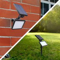 ingrosso pareti luminose-Nuova illuminazione esterna lampada da parete solare LED lampada da giardino 48LED 300lm 3 modalità lampada giardino luminoso super luminoso