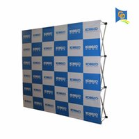 7.5ft * 7.5ft Promotion Pop Up Display Banner Stand, Tension Stoffrahmen, Messestand Messe mit Banner