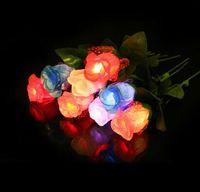 melhor levou rosa venda por atacado-New Fashionable Rose Luzes Para Valentine Pano Art LED Rose Luzes Best Sellers Mutil Cores 120 pçs / lote