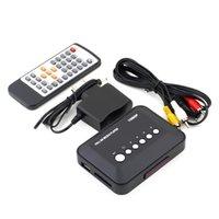 Wholesale Rmvb Video - Wholesale- 1Pcs Freeshipping 1080P HD SD MMC TV Videos SD MMC RMVB MP3 Multi TV USB HDMI Media Player Box