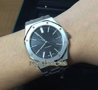 Wholesale Watch Band Silver Cheap - Super Clone Luxury Brand high quality Cheap New Black Dial Automatic Movement Mens Watch Asian 2813 Stainless Steel Band Gents Watches AAA
