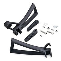 Wholesale Yamaha R6 Pegs - Motorbike Rear Passenger Foot Pegs Bracket Fit For Yamaha YZF-R6 2003-2005 R6S 2006-2010 Black Silver