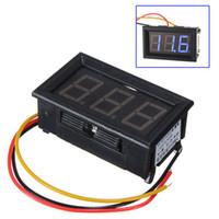 Wholesale Volt Digital Motor - DC 0-99V 3 Wire LED Digital Display Panel Volt Meter Voltage Voltmeter Motor LW