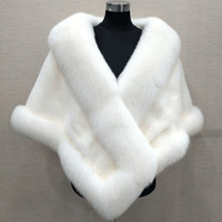 Wholesale evening shawls scarves for sale - Group buy 10 Colors Mixed Orders Autumn winter newest long fox faux fur bridal Wraps evening dress shawl cloak scarf female Party Cocktail
