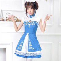 Wholesale Sexy Lolita Japan - New Arrival Lolita Dress Japan Anime Costumes White And Blue Sexy Cosplay Clothing Free Shipping By DHL Hot Selling