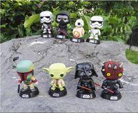 Wholesale Bobble Head Darth Vader - Chanycore Funko pop Bobble Head Figure Star Wars YODA Stormtrooper BOBA FETT Darth Vader MAUL Skywalker PVC Vinyl Figure Toy