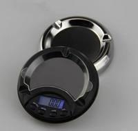ingrosso mini portacenere-mini LED posacenere diamante oro pillola polveri bilancia di precisione bilancia peso 0,1 g 0,01 g