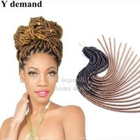 Wholesale Weave Extension Synthetic - Soft Crochet Dreadlocks Braids Dreadlock Extensions 20 inch 20 roots Weaving Softex Faux Locs Crochet Braids Hair Soft Dread Hair Y demand