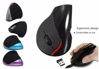 Wholesale Brand Computer Accessories - DHL fashion brand Wireless mice Computer Accessories mice Ergonomic gaming mice Design Optical Wireless mouse vertical for gifts