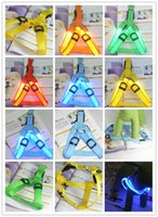 Segurança Dog Pet LED Light intermitente Glow Collar Belt Harness Leash Correia de peito DHL FEDEX FREE SHIPPING