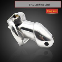 Wholesale Chastity Belt Steel New - Doctor Mona Lisa - The New Hot-Selling Male 316L Stainless Steel Chastity Cage Device Belt Metal Luxury HT Kit Two Versions Bondage SM Toys