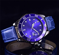 diseño de vestido azul negro al por mayor-marca de lujo Nuevo diseño elegante Ladies Model Dress azul relojes de moda para mujer Pulsera de cuero correa de acero inoxidable negro reloj femenino