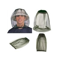 Head Net outdoor survival supplies - Anti Mosquito Bug Bee Insect Mesh Hat Head Face Protect Net Cover Outdoor Travel Hunting Camping Protector Survival Supplies ZA2908