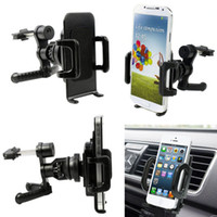Atacado de carro 2016 New Universal 360 graus Car Air Vent Mount Cradle Holder Stand para iPhone Mobile Smart Cell Phone GPS