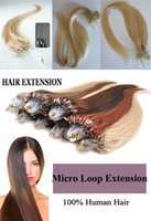 Wholesale Factory Best Price AAAAAAAA Grade Crazy Color Light Brown European Double Drawn Micro Rings Hair Weaving