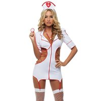 Wholesale Erotic Role Play Costumes - Hot 2016 Sexy Nurse Costume Erotic Costumes Role Play Women Erotic Lingerie Female Sexy Underwear Red Cross Uniform Games 35