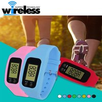 Digital LED Pedometer Run Step Walking Distance Calorie Counter Watch Moda Design Pulseira Colorful Silicone Pedometer