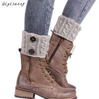 Wholesale Wholesale Boots Online - Wholesale- Gigisanny New Women's Fashion Knitting Socks Leg Warmers Boot Cover Keep Warm Socks Online Free Shipping,Oct 10