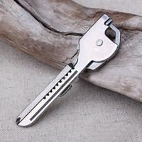 Wholesale Utili Key - 6 in 1 Useful Multifunction Knife Practical Swiss Tech Utili Key Outdoor Screwdriver Bottle Opener Keychain Camping Hiking Tools
