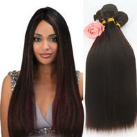 Wholesale Nature Straight - FASHIONKEY hot selling 3 Bundles nature color Wholesale Synthetic Straight Hair Weave Bundles Straight Hair extension SF214