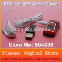 ingrosso lettore mp3 di 1gb-Commercio all'ingrosso di trasporto libero di vendita calda 10 pz / lotto mini stile auto mp3 lettore musicale supporto Micro SD / TF card con earphonemini usb 6 colori