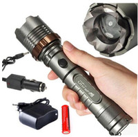 2000LM impermeabile Zoomable Torcia CREE XM-L T6 LED caricabatteria + 18650 batteria ricaricabile + 1x auto + 1x caricabatterie AC