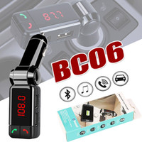Wholesale Mp3 Player Wholesale Uk - BC06 Bluetooth MP3 Car Charger BT Wide Use Wireless Music Player BC-06 Support TF Card Speaker Mini Dual Ports Charger AUX FM Transmitter