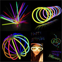 Wholesale Kids Led Flashing Necklaces - Neon LED Light Sticks Multi Color Glow Stick Flash Bracelet Necklaces Children Adults Party Novelty Toys Gifts Free DHL 287