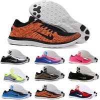 Wholesale Mens Gym Tops - 2017 top quality free run 4.0 New Flykwire Men and women Run Classic Barefoot Running Shoes Breathable mens sneakers