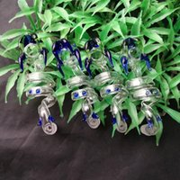 Wholesale faucet spiral - Color spiral faucet glass bongs accessories , Colorful Pipe Smoking Curved Glass Pipes Oil Burner Pipes Water Pipes Dab Rig Glass Bong