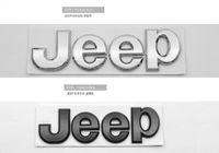 top voiture noir achat en gros de-Top qualité fit pour JEEP Grand Cherokee ABS chrome 3D auto accessoires autocollant de voiture