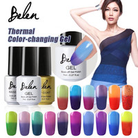 Wholesale Led Color Changing Nail Polish - Wholesale-Belen 7ml Chameleon Temperature Change Color UV Gel Polish Varnishes Soak-off Gel Nail LED Lamp Gel Lak UV Nails Verniz Lacquer