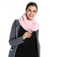 ingrosso anelli di sciarpa-Fashion Women Ring Winter Scarf Marchio di lusso caldo collo di pelliccia sintetica Morbido peluche Solid Face Shield