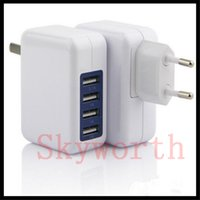 Wholesale Folding Usb Ports - 3.1A 15W High Speed 4 Port USB Wall Charger Portable Travel Charger Power Adapter Folding Plug for iPhone 7 6s Plus iPad