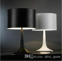 Wholesale Led Stainless Table Lamps - Italy Flos Table lamp By Sebastian Modern Spun aluminum alloy desk lamp AC 110V-240V Black White Free shipping