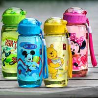 Wholesale Baby Centre - Wholesale- baby Bottles Eco-friendly PP Kid Bickiepegs baby cups baby cartoon water bottle children Straw Bottle Child kettle sports bottle