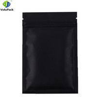 Wholesale Wholesale Black Ziplock Foil Bags - Fast shipping 12x18CM, 100PCS Black aluminum foil zip lock bag barrier resealable food candy packaging ziplock bags
