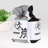 hava spreyi poşetleri toptan satış-Bambu Kömür Poşet Araba Hava Spreyi Hava Filtresi Anti-mikrobiyal Deodorant Koku Emici Çanta 135G Bambu Aktif Karbon Her Torba Içinde