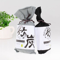 ingrosso gel di bambù-Carbone di bambù Bustina Deodorante per auto Filtro aria Anti deodorante microbico Sacchetto di assorbimento degli odori 135G di carbone attivo di bambù in ogni sacchetto