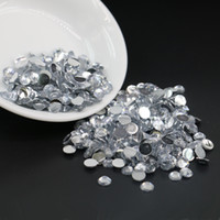 Wholesale Hot Fix 3mm Crystal - Non Hotfix Crystal Resin Flatback Rhinestones, All Size No Hot Fix Crystal Resin Flat Back Rhinestone, 3mm 4mm 5mm 6mm