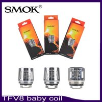 Wholesale Coil Head Smok - Smok TFV8 BABY coil TFV8 baby Beast Tank m2 Coils Head V8 Baby-T8 0.15ohm X4 0.15ohm Q2 0.4ohm Core 0266110-1