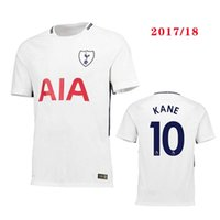 Wholesale Men Swimming Shirt - Thai quality 2017 Tottenhames Kane Home spurs Soccer Jersey 2017 2018 away SON Mason Lamela Alli Lloris men football Running shirt 17 18