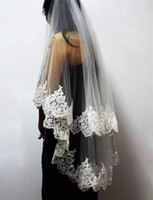 Wholesale wedding veil fingertip tier for sale - Group buy New Arrival Two Layers Sequins Fully Laced Metal Comb Short Tiers Bridal Veils High Quality Wedding Accessories