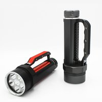 Wholesale Cree Scuba Diving - KC Fire New LED Diving Light 6 X CREE L2 7200LM Diving Flashlight Waterproof Lamp Scuba Submersible Underwater 100M Work Torch