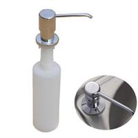 Wholesale Dispenser Detergent - 300ml Kitchen Sink Liquid detergent Shampoo Soap Dispenser Brushed Nickel Head ABS Bottle DJ0213