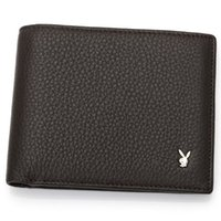 Wholesale Leopard Print Lycra - New 2017 Luxury brands Mens Wallets Small Bifold Credit Card PU Leather Travel Purse High quality Playboy Wallet for Men Fashion A086