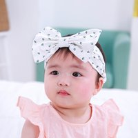 Wholesale Children Floral Europe and America Headbands Children headdress ear hood Headband Baby hair band Headdres Stretch Band Bow tie