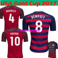 Wholesale Cheap National Team Soccer Jerseys - Soccer Maillot De Foot Tracksuit 17-18 Pulisic #10 National Team Red Jersey,2018 World Cup Jersey,customized Top Thai Quality,cheap Jerse