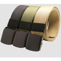 Wholesale Wholesale Designer Mens Belts - Wholesale- hot sale Automatic Buckle Nylon Belt Male Army Tactical Belt Jeans Mens Luxury Waist Designer Belts Men Belts